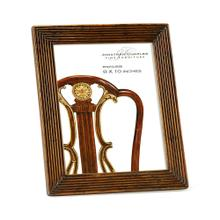 """See Details - Walnut ribbed picture frame (8""""x10"""")"""