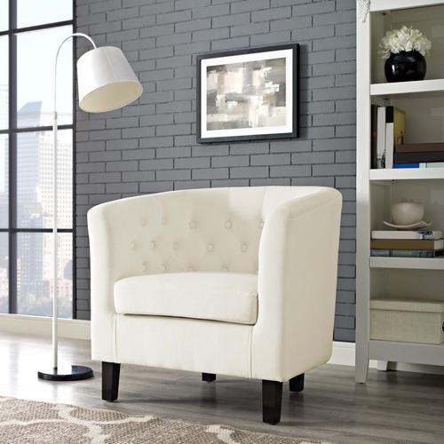 Modway - Prospect Performance Velvet Armchair in Ivory