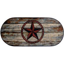 "Cozy Cabin Barn Star 20""x44"" Oval"