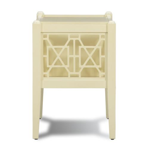 Open Shelf and 2-storage Space Magazine Table, Cream