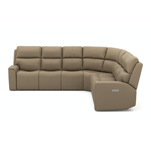 Flexsteel - Jarvis Power Reclining Sectional with Power Headrest