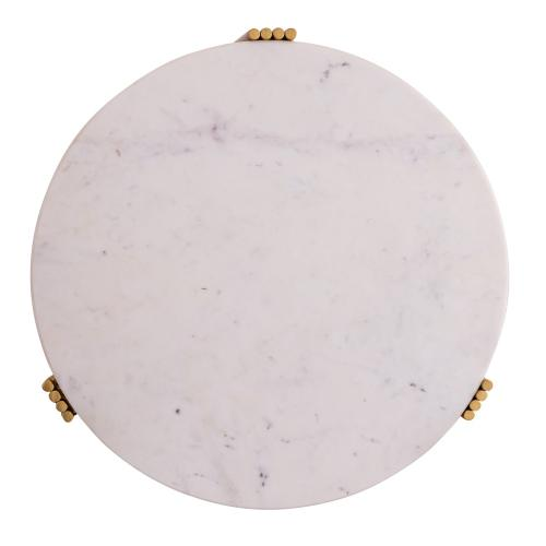 Tov Furniture - Aya Marble Side Table by Inspire Me! Home Decor