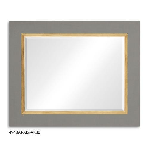 """Homespun"" mirror (Slate/Gold)"
