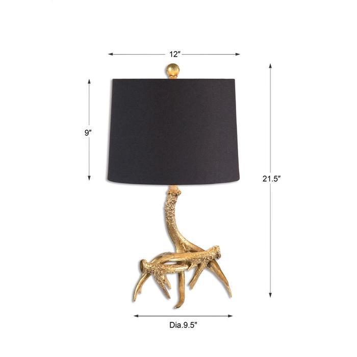 Uttermost - Golden Antlers Table Lamp