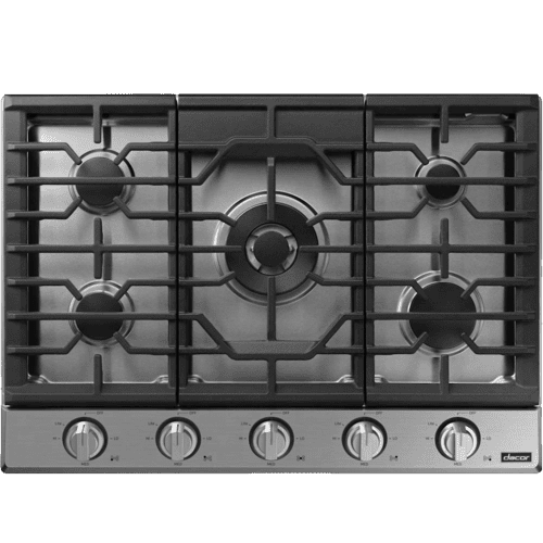"Transitional 30"" Gas Cooktop, Silver Stainless Steel, Natural Gas/Liquid Propane"