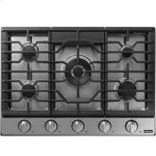 """Transitional 30"""" Gas Cooktop, Silver Stainless Steel, Natural Gas/Liquid Propane"""