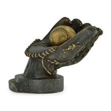Baseball glove with removable baseball
