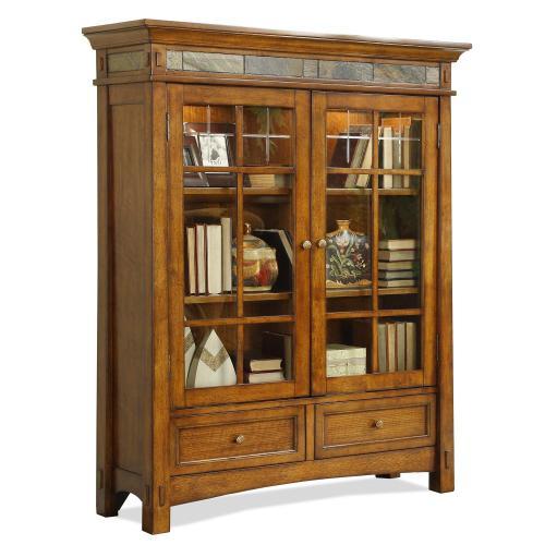 Product Image - Craftsman Home - Door Bookcase - Americana Oak Finish-Floor Sample