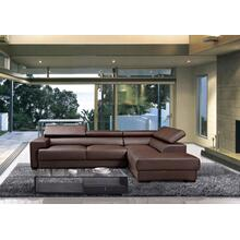 Divani Casa Modern Brown Leather Sectional Sofa