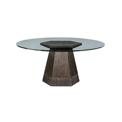 "Geode Bluff Round Dining with 60"" Glass Top"