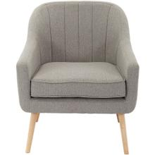See Details - Hanover Odessa Accent Chair in Gray with Rubberwood Legs, HUP302-GRY