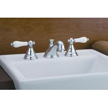 Product Image - Widespread Bathroom Faucet with Porcelain Levers
