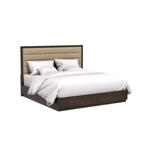 A.R.T. Furniture - Cary Upholstered Queen Bed Jute Dark Cherry Polished Nickel
