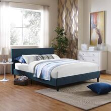 Anya Full Fabric Bed in Azure