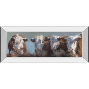 """Little Bull & The Babes"" By Carolyne Hawley Mirror Framed Print Wall Art"