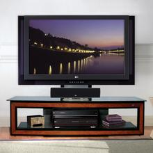 FP2125 High Gloss Black with Cherry Wood Trim Flat Panel Mounting System for up to 60