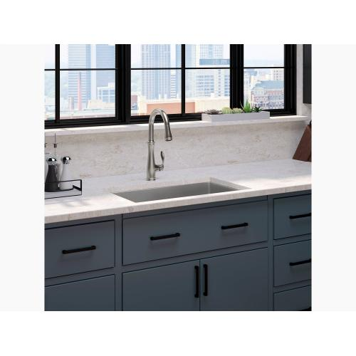 K560cp In Polished Chrome By Kohler In Daly City Ca Polished Chrome Single Hole Or Three Hole Kitchen Sink Faucet With Pull Down 16 3 4 Spout And Right Hand Lever Handle Docknetik Magnetic Docking System And