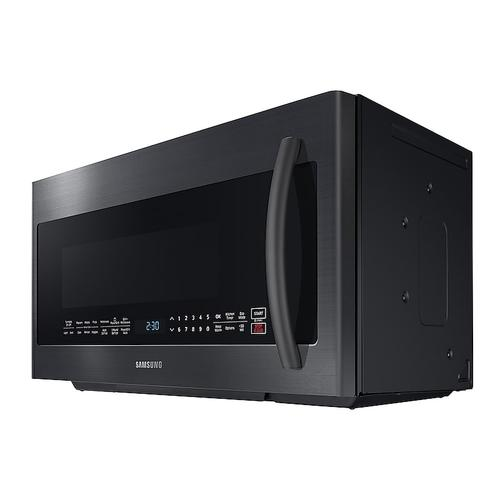 **FLOOR MODEL** 2.1 cu. ft. Over-the-Range Microwave with PowerGrill in Fingerprint Resistant Black Stainless Steel