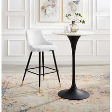 Adorn Performance Velvet Bar Stool in White