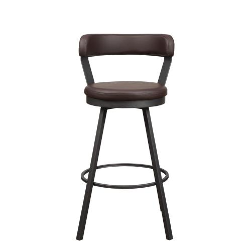 Swivel Pub Height Chair, Brown