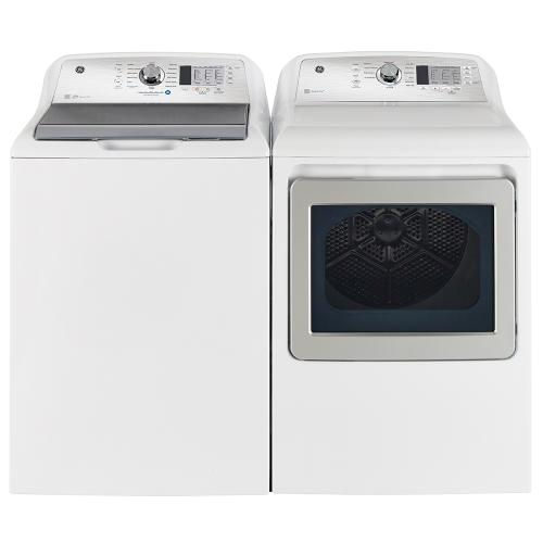 Gallery - GE 7.4 cu.ft. Top Load Electric Dryer with SaniFresh Cycle White - GTD65EBMRWS