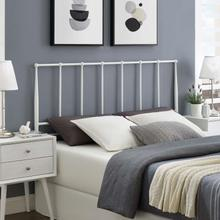 View Product - Kiana Queen Metal Stainless Steel Headboard in White