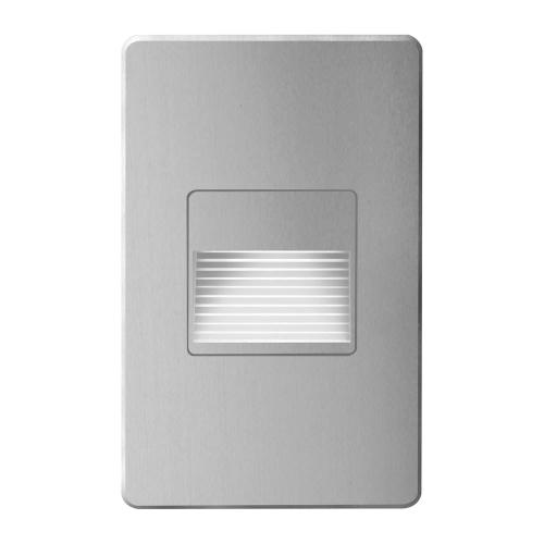 Brushed Alum Rectangle In/out 3w LED Wal