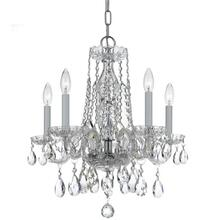 See Details - Traditional Crystal 5 Light Clear Crystal Chrome Mini Chandelier