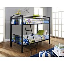 Heavy Metal Black Twin Over Twin Bunk Bed