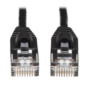 Cat6a 10G Snagless Molded Slim UTP Ethernet Cable (RJ45 M/M), Black, 15 ft.