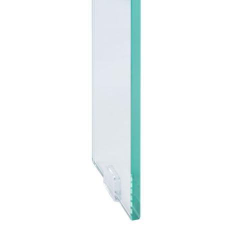 Safavieh - Katelyn Rectangular Contemporary Glass Leg Coffee Table - Natural / Glass Legs