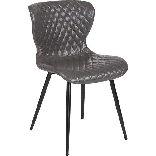 Flash Furniture - Bristol Contemporary Upholstered Chair in Gray Vinyl