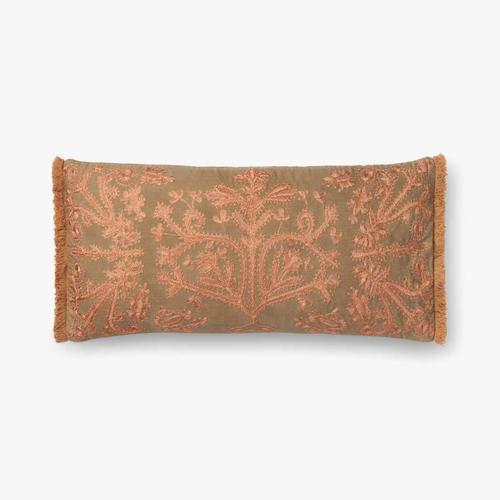 P0522 Khaki / Copper Pillow