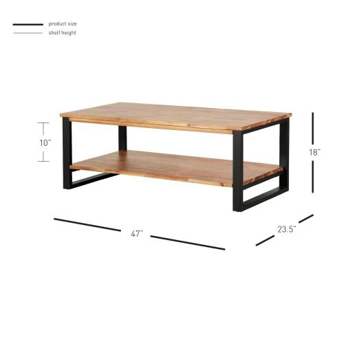 Zachary KD Coffee Table, Natural