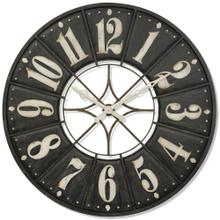 BIG TIME  55w X 3ht X 55d  Large Modern Industrial Metal Wall Clock with Open Work Center