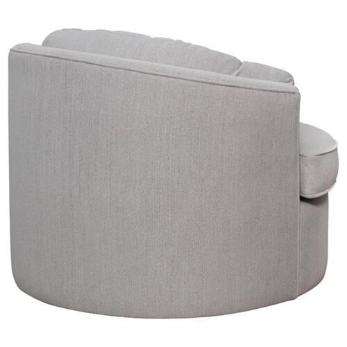 Priscille Fabric Swivel Accent Arm Chair, Brussel Light Gray