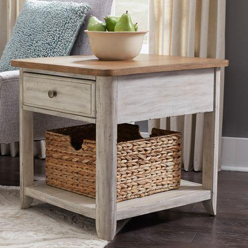 Liberty Furniture Industries - End Table with Basket