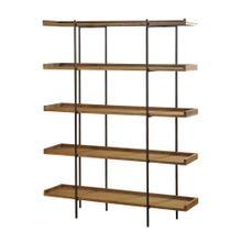 Bryan Keith Design - Metal and Natural Wood Five Shelf Bookcase