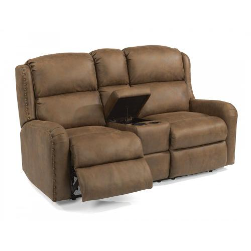 Product Image - Cameron Fabric Power Reclining Loveseat with Console