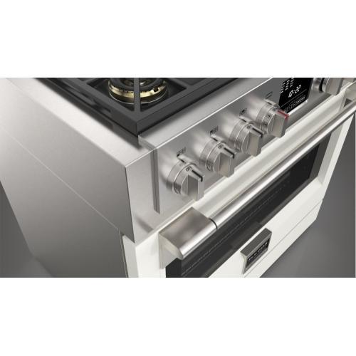 "36"" Dual Fuel Pro Range - Matte White"