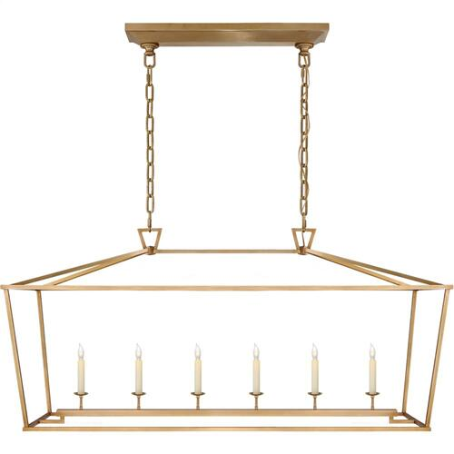 Visual Comfort CHC2166AB E. F. Chapman Darlana 6 Light 54 inch Antique-Burnished Brass Linear Lantern Ceiling Light, Large