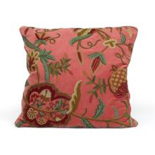Rose Velvet Pillow with a Floral Motif