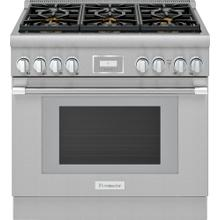 Dual Fuel Professional Range 36'' Pro Harmony® Standard Depth Stainless Steel PRD366WHU