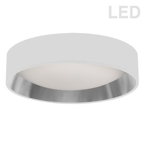 """Product Image - 15"""" Flush Mount, Wh/slv Shade"""