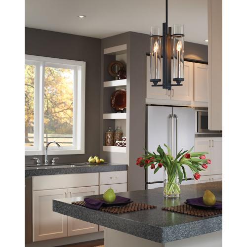 Ethan Mini Pendant Antique Forged Iron / Brushed Steel