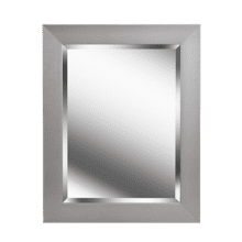 See Details - Drake - Beveled Mirror w/Brushed Steel Finish Frame