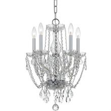Traditional Crystal 5 Light Sw arovski Strass Crystal Mini Ch andelier