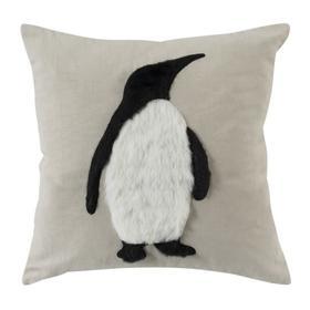 Flippers Penguin Pillow - Beige / White / Black