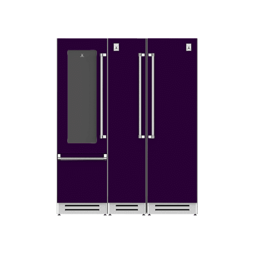 "Hestan - 66"" Wine Refrigerator (L), Column Freezer and Refrigerator ® Ensemble Refrigeration Suite - Lush"