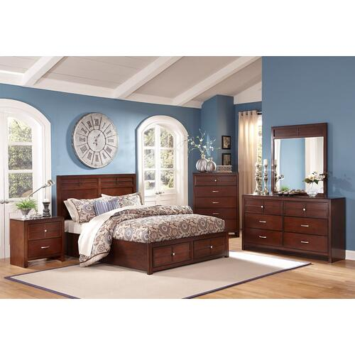 KENSINGTON 6/6 K STG HEADBOARD- BURNISHED CHERRY